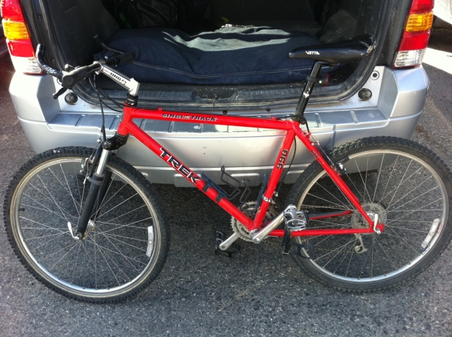 red trek bicycle, brand new, bike swap